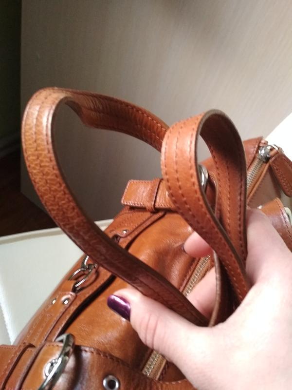 Красивая  вместительная кожаная сумка,disser - Фото 3