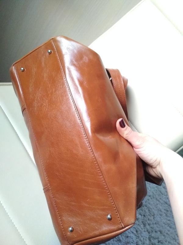 Красивая  вместительная кожаная сумка,disser - Фото 4