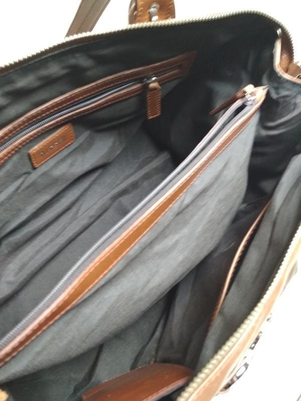 Красивая  вместительная кожаная сумка,disser - Фото 5