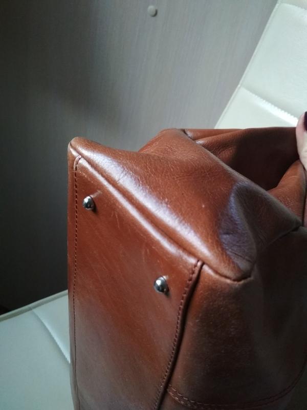 Красивая  вместительная кожаная сумка,disser - Фото 6