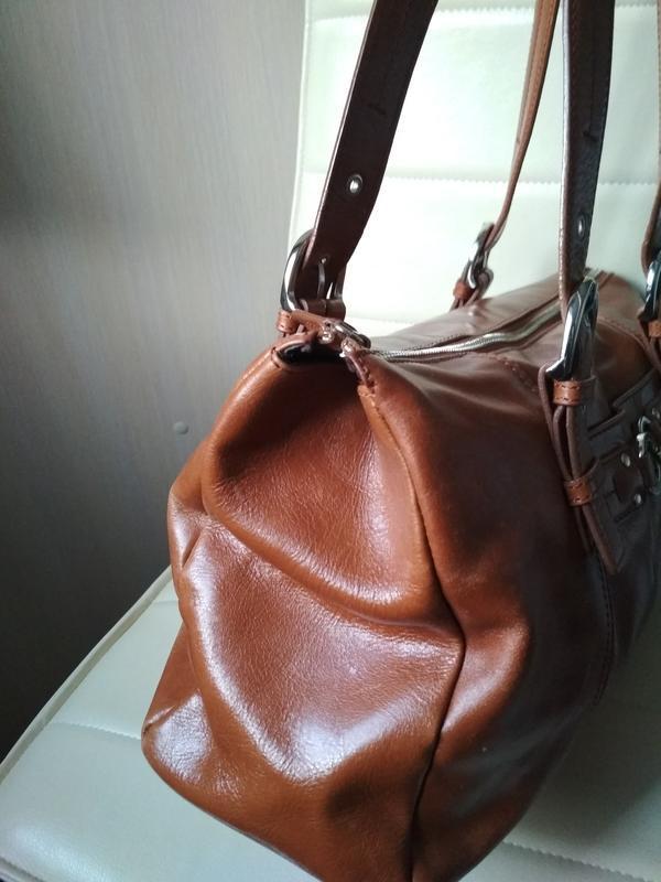 Красивая  вместительная кожаная сумка,disser - Фото 7
