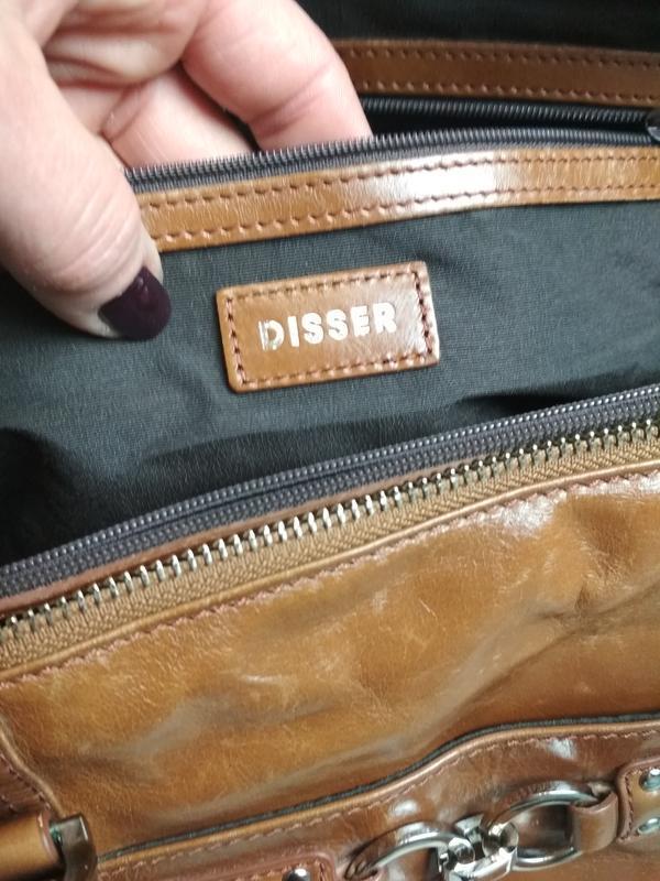 Красивая  вместительная кожаная сумка,disser - Фото 8