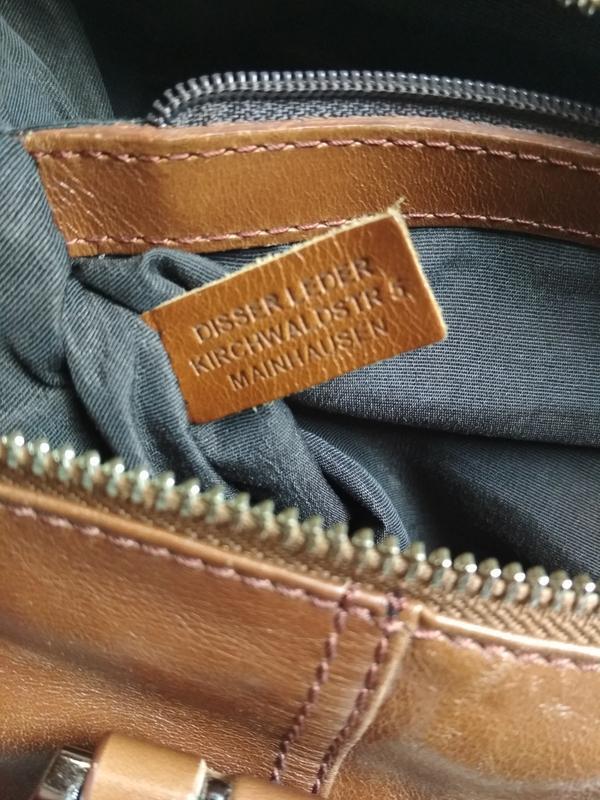Красивая  вместительная кожаная сумка,disser - Фото 9
