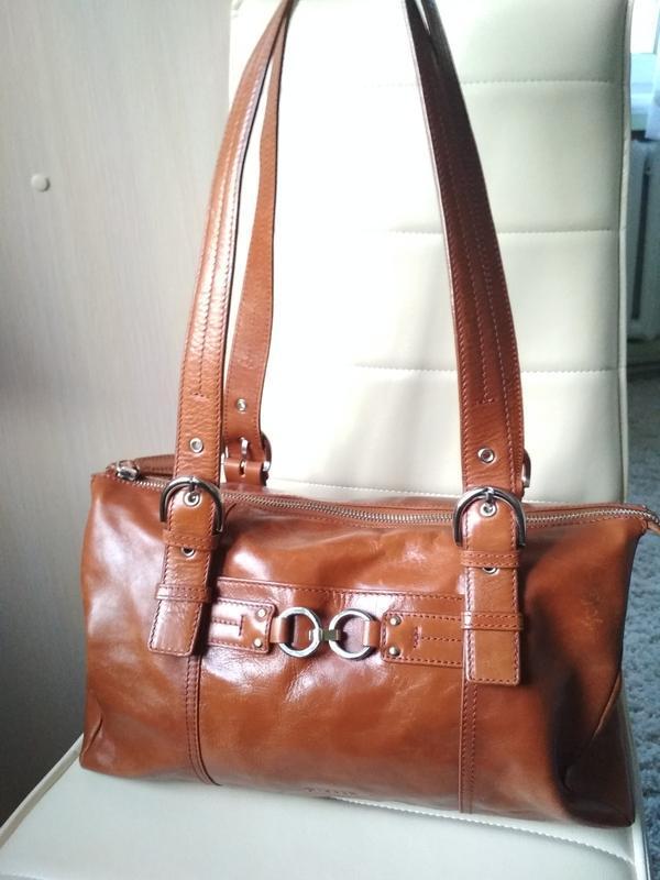 Красивая  вместительная кожаная сумка,disser - Фото 10