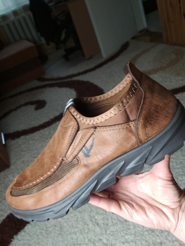 Очень комфортные мужские туфли, р. 44-45 - Фото 4