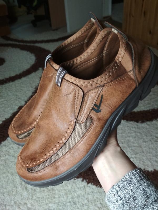 Очень комфортные мужские туфли, р. 44-45 - Фото 7