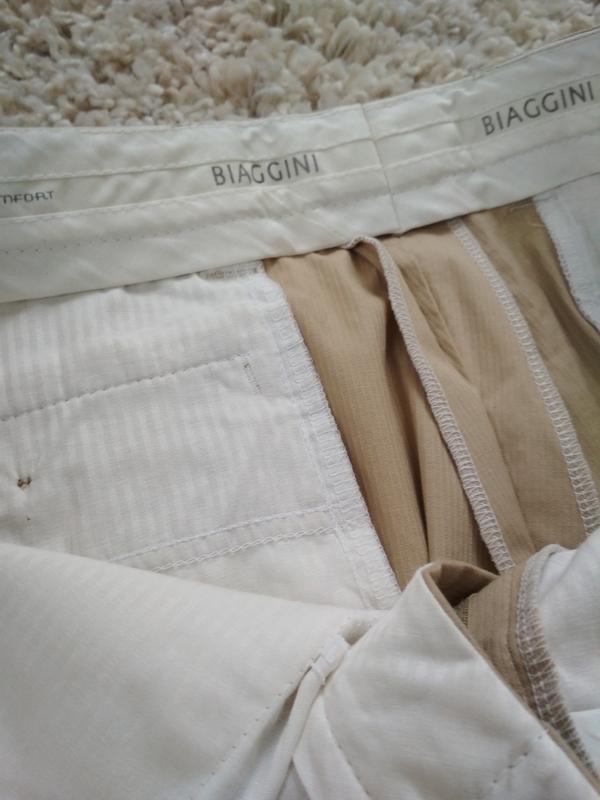 Актуальные стильные светлые катоновые брючки, biaggini,р. 50-52 - Фото 4