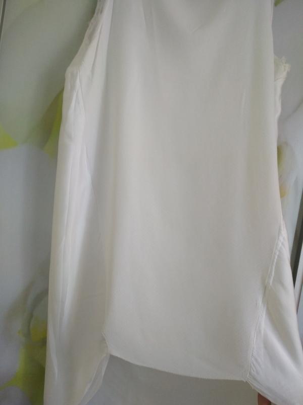 Очень стильная и комфортная блуза туника платье в молочном цве... - Фото 2