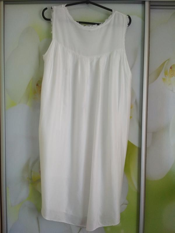 Очень стильная и комфортная блуза туника платье в молочном цве... - Фото 5