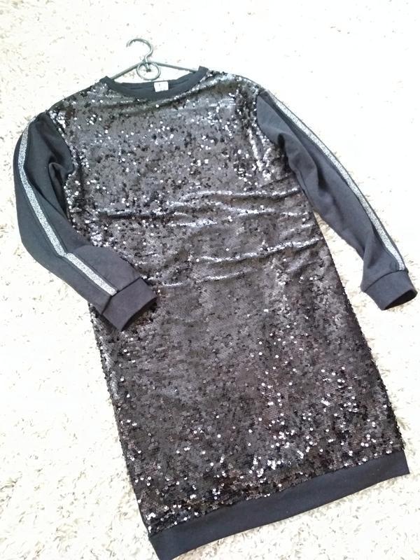 Очень стильное платье с паетками,с лампасами, here & there, p.... - Фото 6