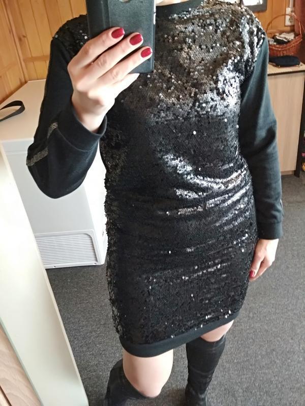 Очень стильное платье с паетками,с лампасами, here & there, p.... - Фото 9