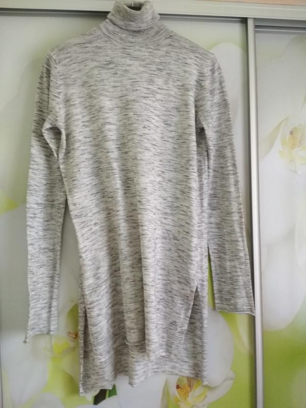 Стильный свитер,гольф, водолазка, туника, zara knit, p. 8-10 - Фото 2