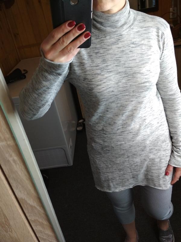Стильный свитер,гольф, водолазка, туника, zara knit, p. 8-10 - Фото 5