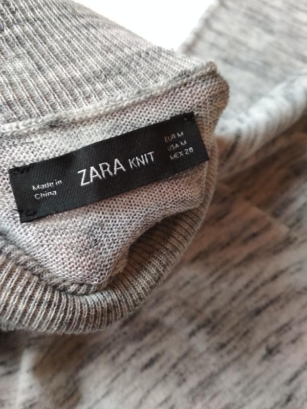 Стильный свитер,гольф, водолазка, туника, zara knit, p. 8-10 - Фото 7