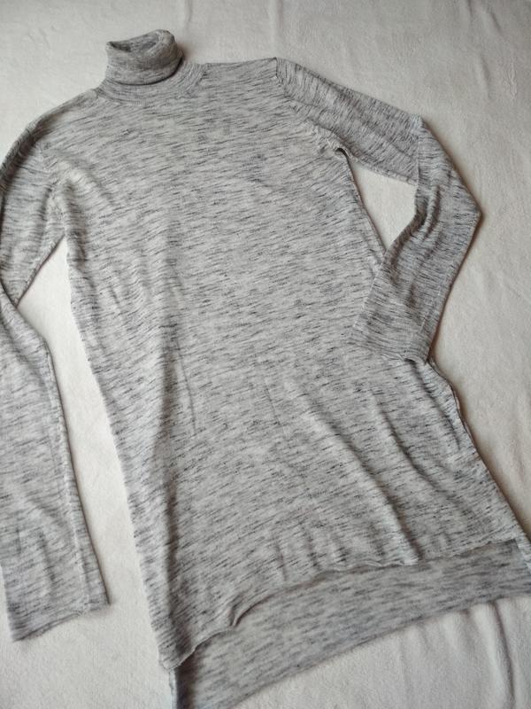 Стильный свитер,гольф, водолазка, туника, zara knit, p. 8-10 - Фото 8