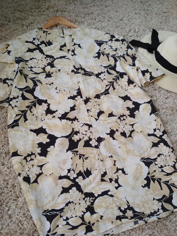 Актуальное катоновое платье в цветочный принт,h&m, p. 16 - Фото 10