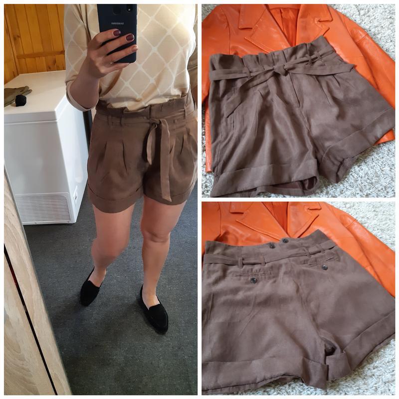 Стильные замшевые шорты с высокой посадкой,chicoree, p. m-l