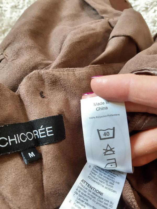 Стильные замшевые шорты с высокой посадкой,chicoree, p. m-l - Фото 3