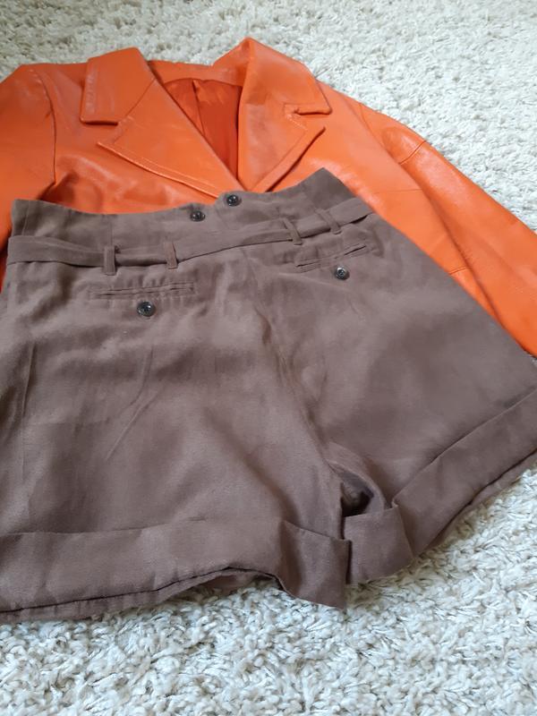 Стильные замшевые шорты с высокой посадкой,chicoree, p. m-l - Фото 5