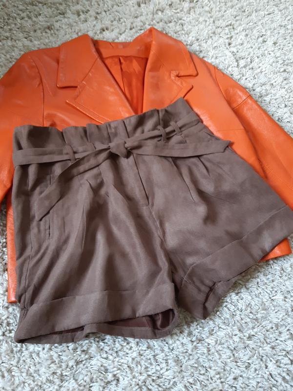 Стильные замшевые шорты с высокой посадкой,chicoree, p. m-l - Фото 7