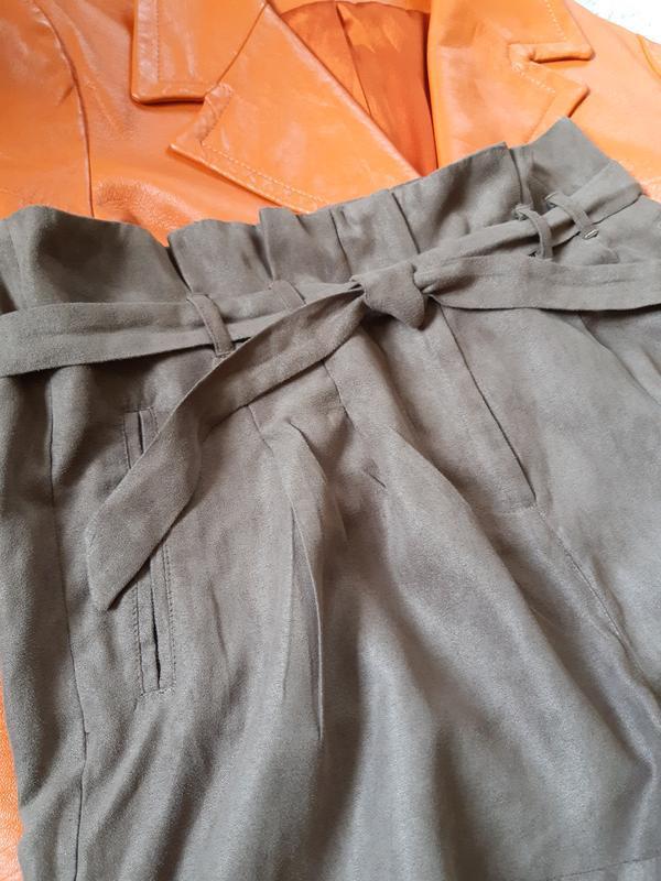 Стильные замшевые шорты с высокой посадкой,chicoree, p. m-l - Фото 8