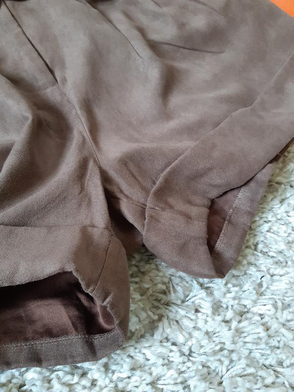 Стильные замшевые шорты с высокой посадкой,chicoree, p. m-l - Фото 9