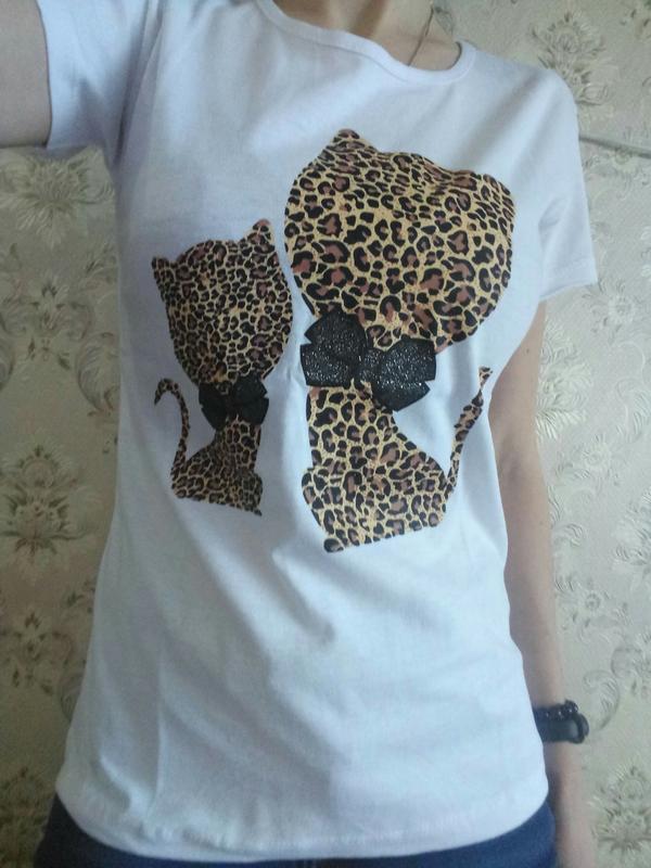 Модная женская футболка, белая женская футболка