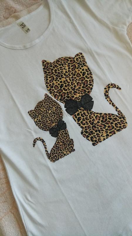 Модная женская футболка, белая женская футболка - Фото 4
