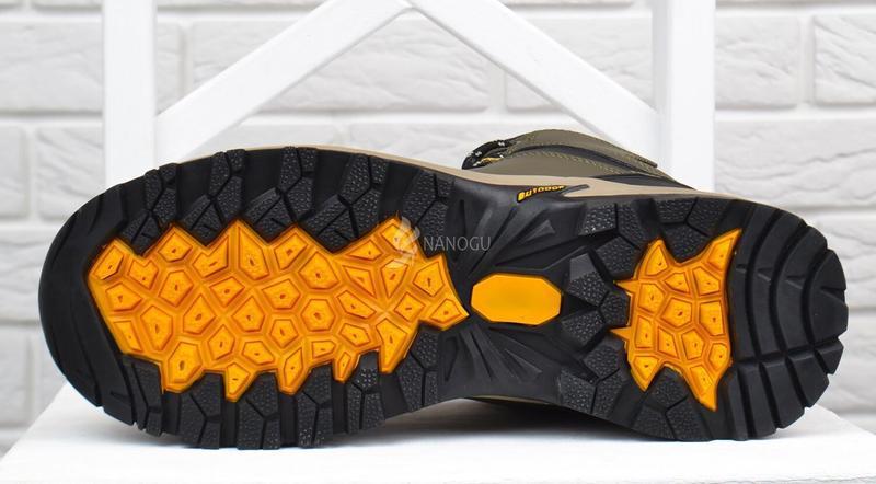 Ботинки мужские зимние термо кожаные трекинговые waterproof хаки - Фото 7