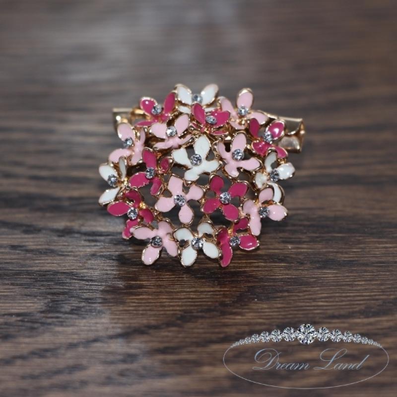 Брошь с камнями женская «неотразимые цветы ii»