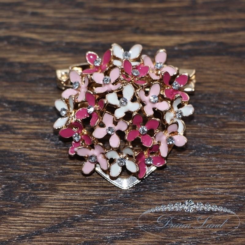 Брошь с камнями женская «неотразимые цветы ii» - Фото 2