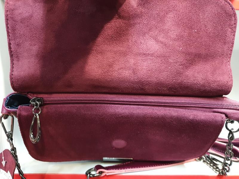 Женская сумочка- клатч из натурального замша и натуральной кожи - Фото 6