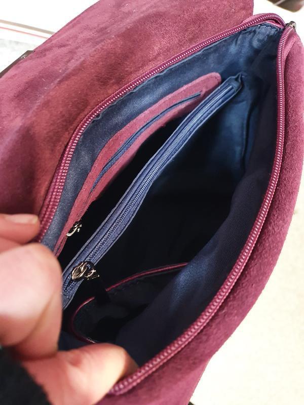 Женская сумочка- клатч из натурального замша и натуральной кожи - Фото 7