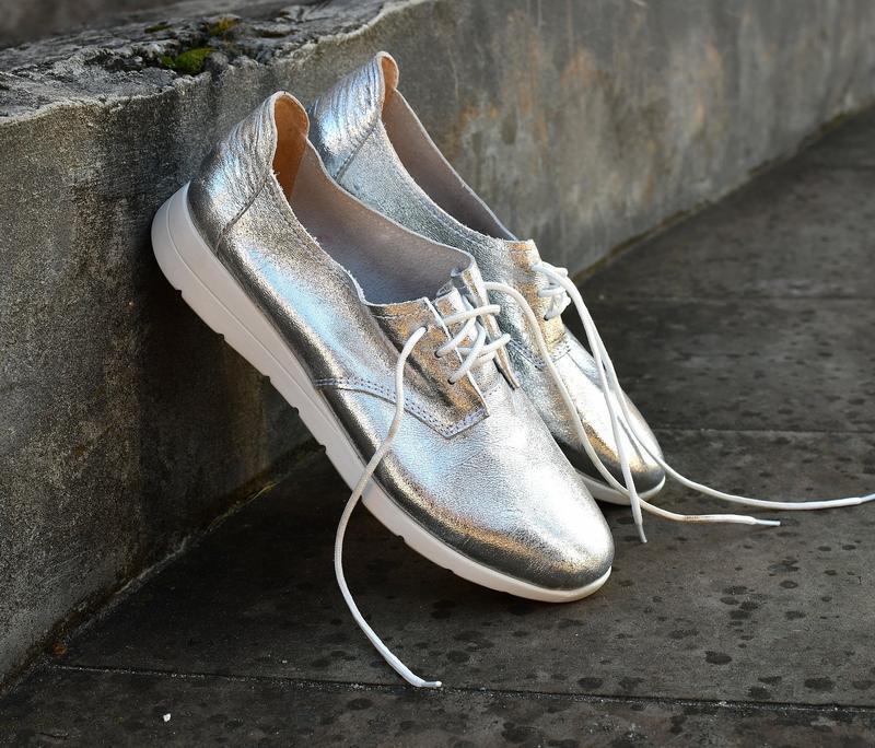 Туфли на шнуровку натуральная кожа