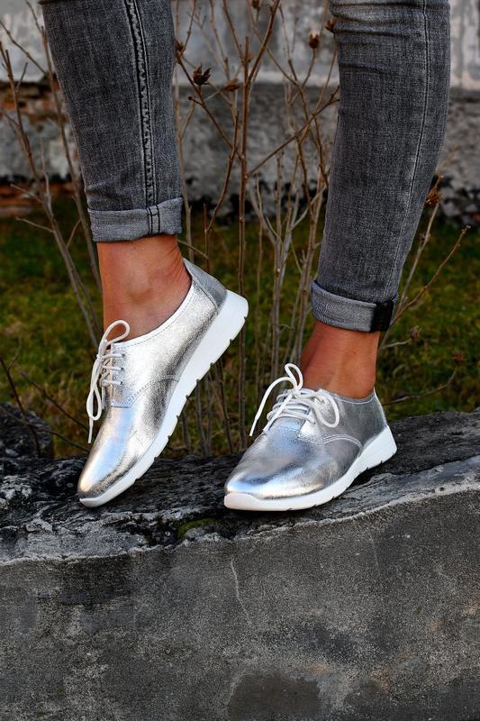 Туфли на шнуровку натуральная кожа - Фото 5