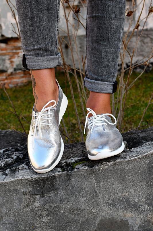 Туфли на шнуровку натуральная кожа - Фото 6