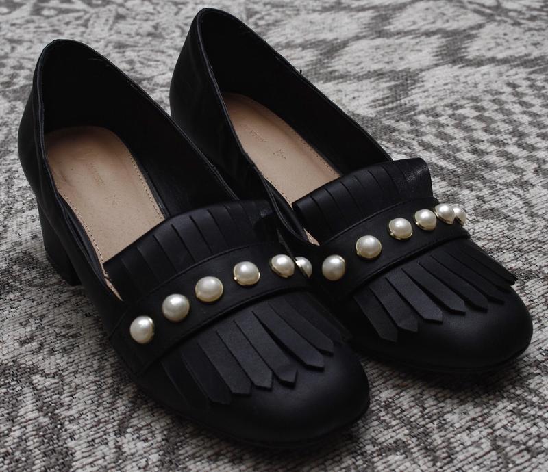 Туфли на толстом каблуке с жемчужинами by very - Фото 3
