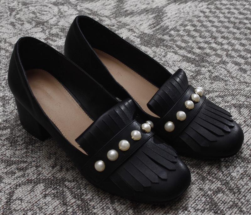 Туфли на толстом каблуке с жемчужинами by very - Фото 5