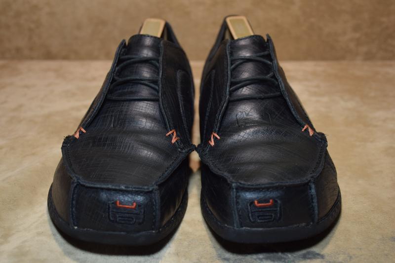 Мужские туфли hub кожаные. оригинал. 41 р./26 см. - Фото 2