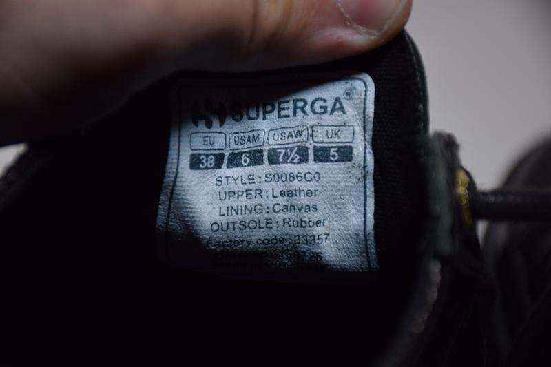Кроссовки кеды superga кожаные. оригинал. 38 р./ 24.5 см. - Фото 8
