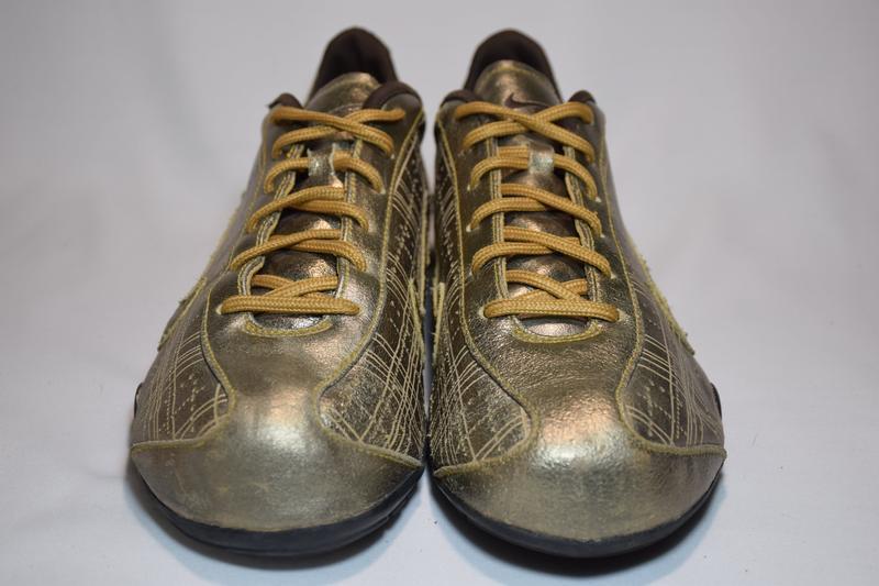 Кроссовки nike rival shox gold кожаные. оригинал. 44 р./ 28.5 см. - Фото 4