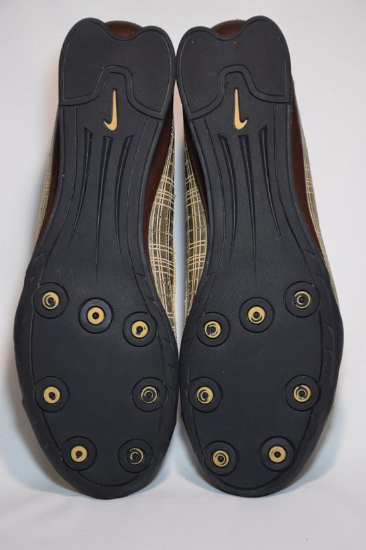 Кроссовки nike rival shox gold кожаные. оригинал. 44 р./ 28.5 см. - Фото 6