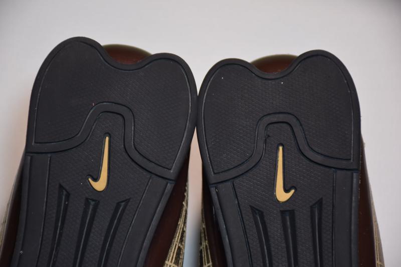 Кроссовки nike rival shox gold кожаные. оригинал. 44 р./ 28.5 см. - Фото 7