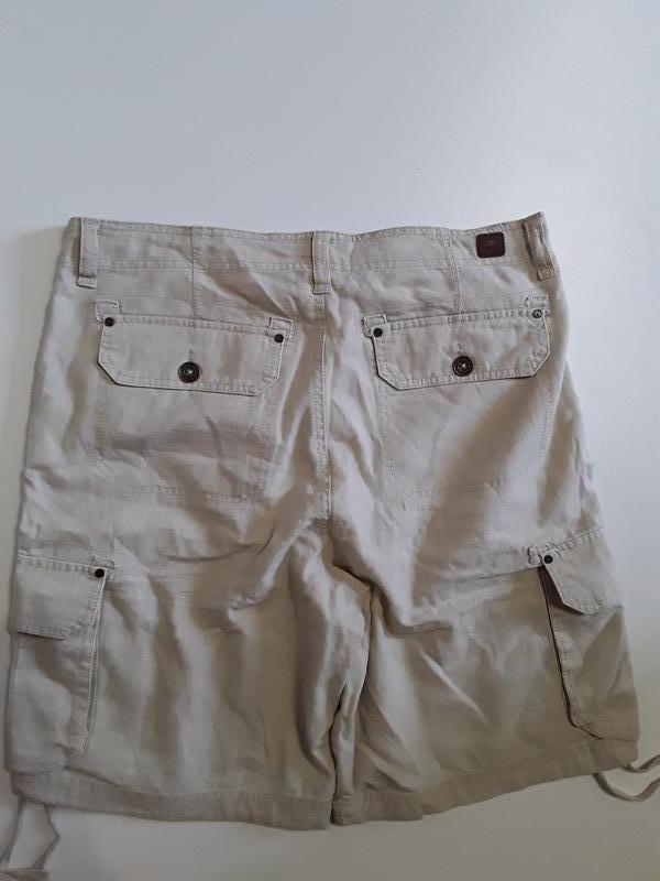 Фирменные полульняные шорты - Фото 3