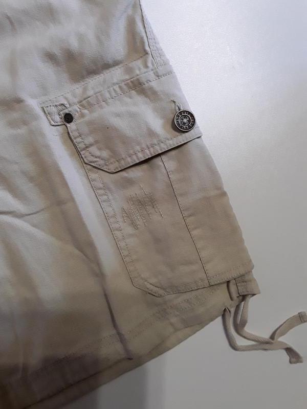 Фирменные полульняные шорты - Фото 5