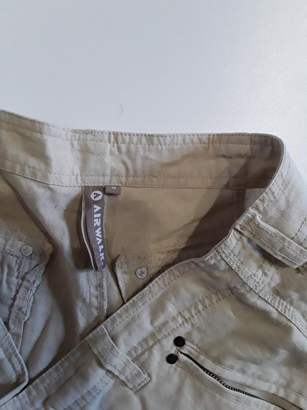 Фирменные полульняные шорты - Фото 6