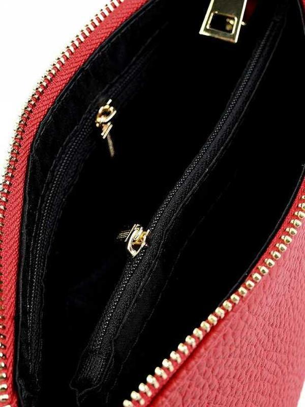 Кожаный клатч шкіряний жіночи1 женский женская кожаная косметичка - Фото 3