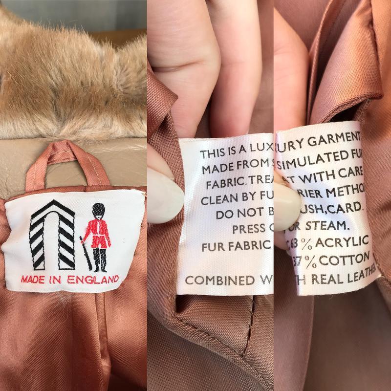 Англия,кожа пальто,мех под норку,кожа,шуба,винтаж,ретро стиль,... - Фото 10