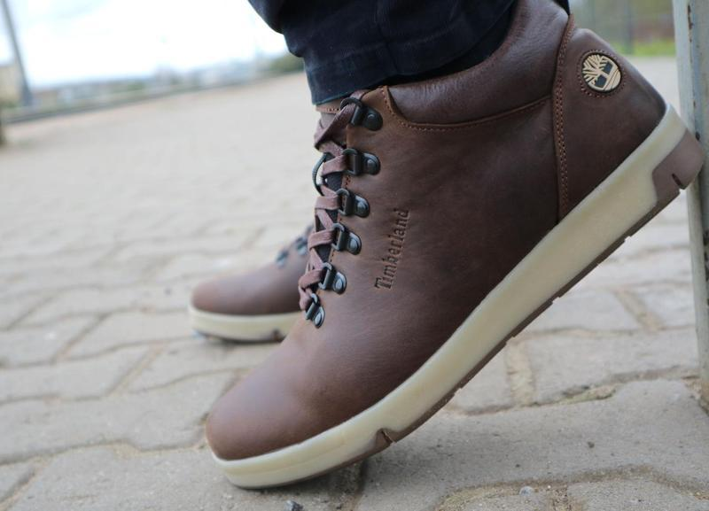 Мужские ботинки кожаные зимние коричневые-матовые yuves 773 - Фото 2