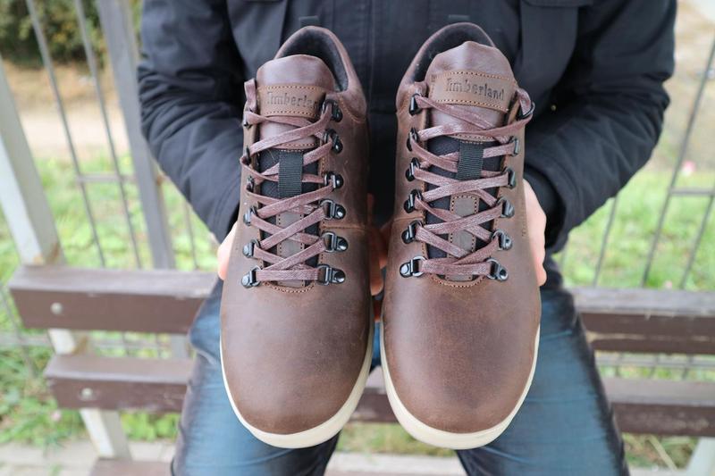 Мужские ботинки кожаные зимние коричневые-матовые yuves 773 - Фото 3